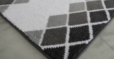 Tonal Diamond bath Mats