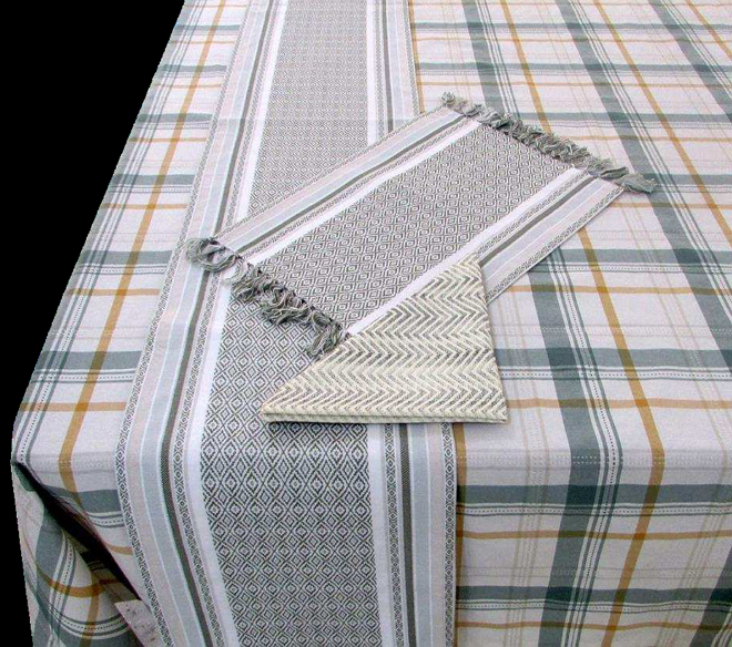 Kitchen mats, placemats, oven mittens, kitchen towels, aprons